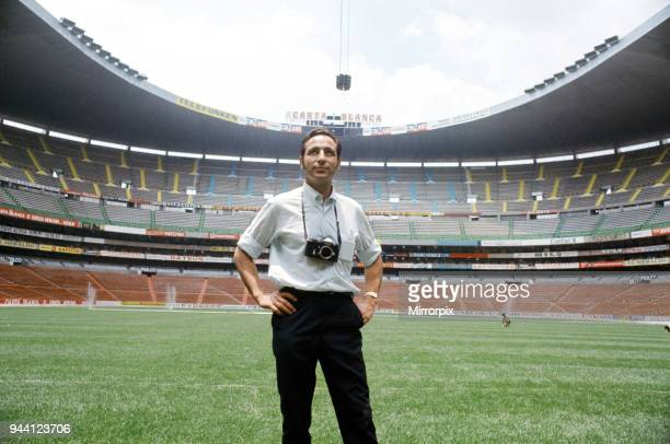 World Cup tournament in Mexico, Mirror photographer Monte Fresco in the Azteca Stadium, May 1970.
