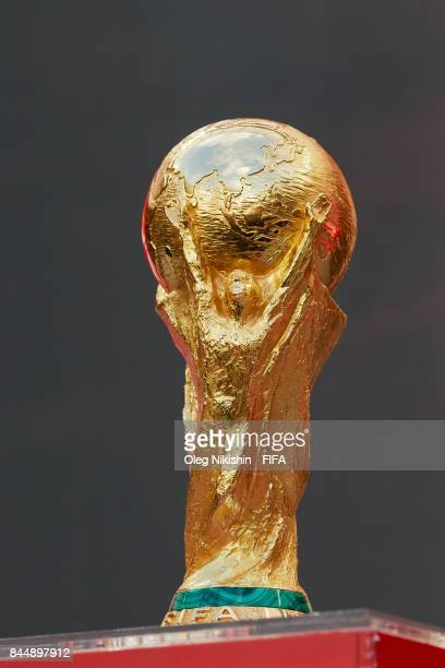 World Cup Trophy during FIFA World Cup Trophy Tour at Luzhniki stadium on September 9, 2017 in Moscow, Russia.