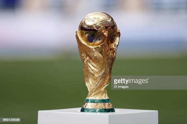World Cup Trophy during the 2018 FIFA World Cup Russia Final match between France and Croatia at the Luzhniki Stadium on July 15 2018 in Moscow Russia