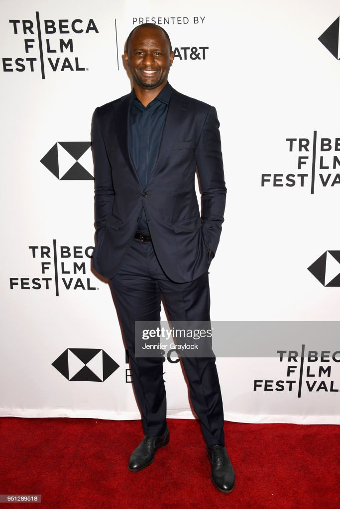 World Cup Winner and NYCFC Coach Patrick Vieira attends as Fox Sports Digital premieres the five-part soccer docu-series 'Phenoms' at Tribeca Film Festival at SVA Theatre on April 25, 2018 in New York City.