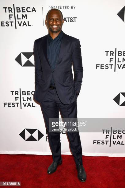 "World Cup Winner and NYCFC Coach Patrick Vieira attends as Fox Sports Digital premieres the five-part soccer docu-series ""Phenoms"" at Tribeca Film..."