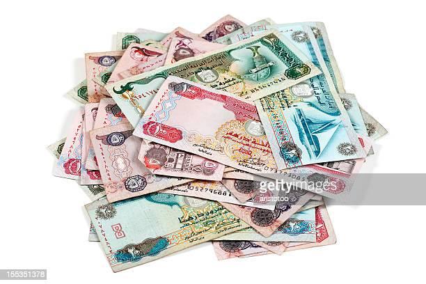World Currencies. Heap of United Arab Emirates Dirham