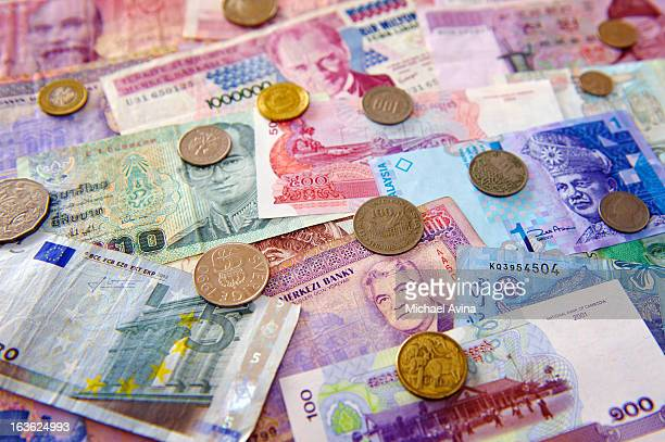 world currencies - italian currency stock pictures, royalty-free photos & images