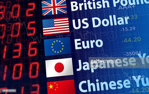 world currency rates - pound sterling note stock photos and pictures