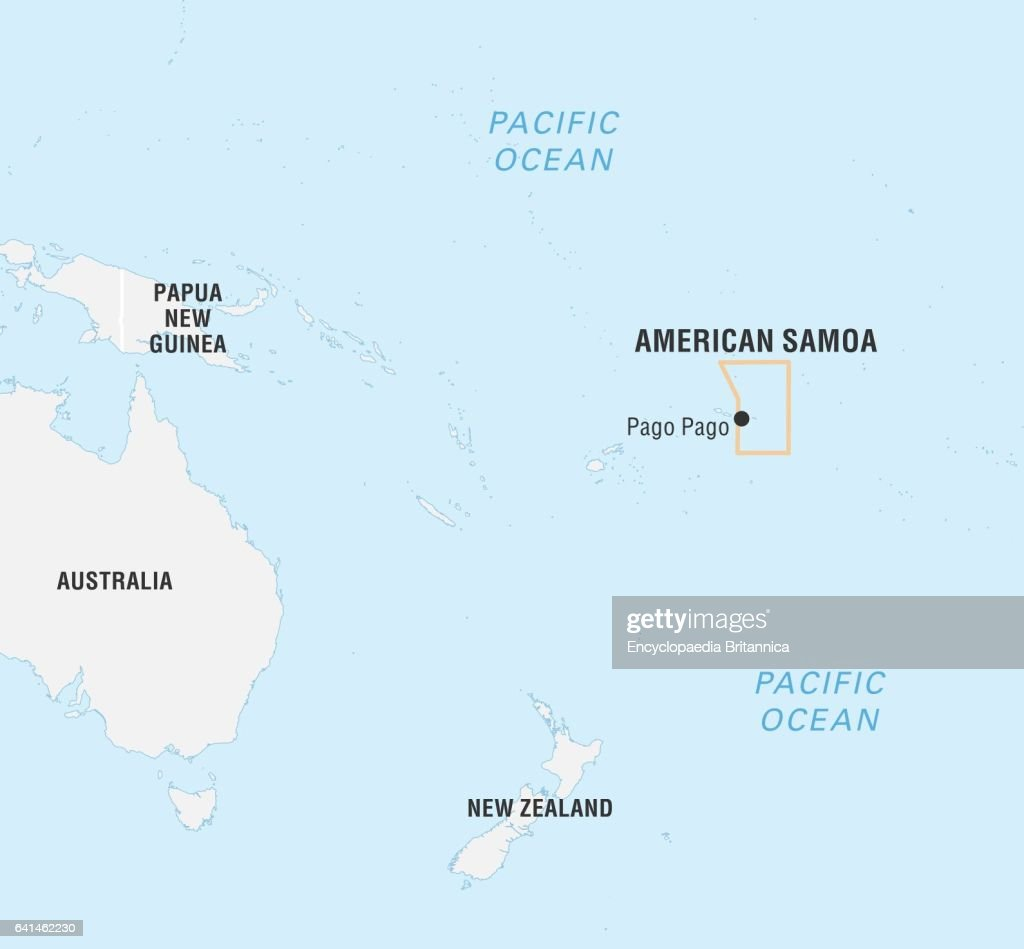World Data Locator Map, American Samoa. News Photo - Getty Images