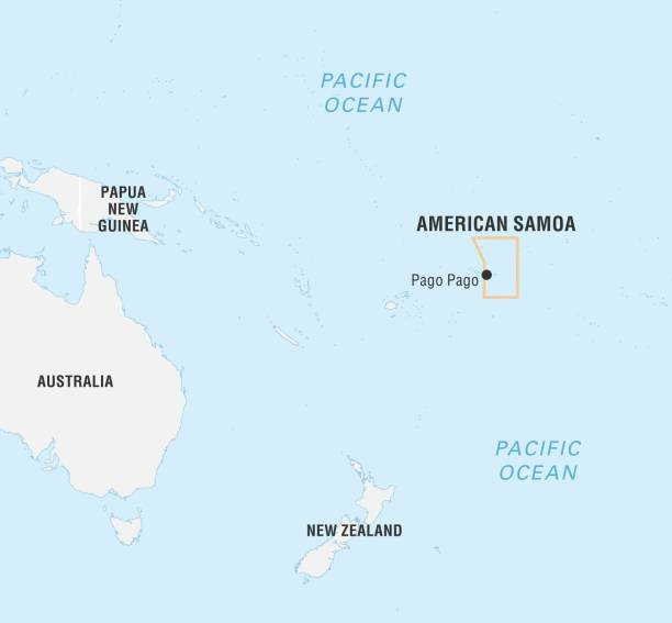 World Data Locator Map, American Samoa Pictures   Getty Images