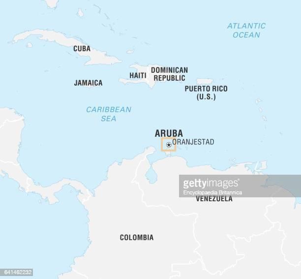 World Data Locator Map, Aruba.