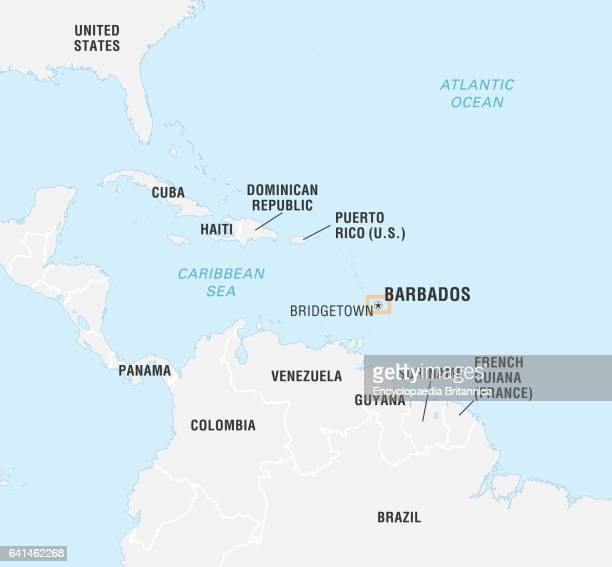 barbados map stock photos and pictures getty images