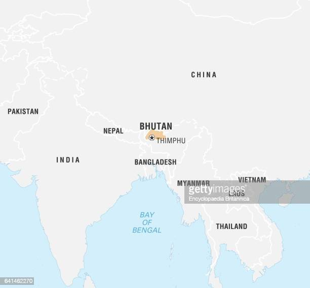 World Data Locator Map Bhutan