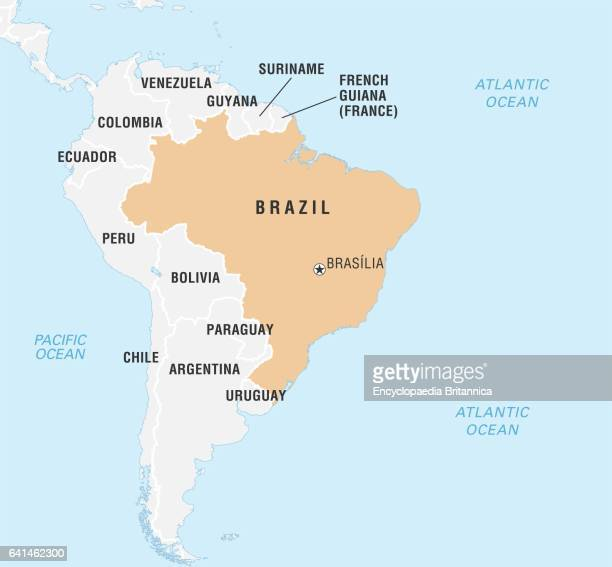 World Data Locator Map Brazil