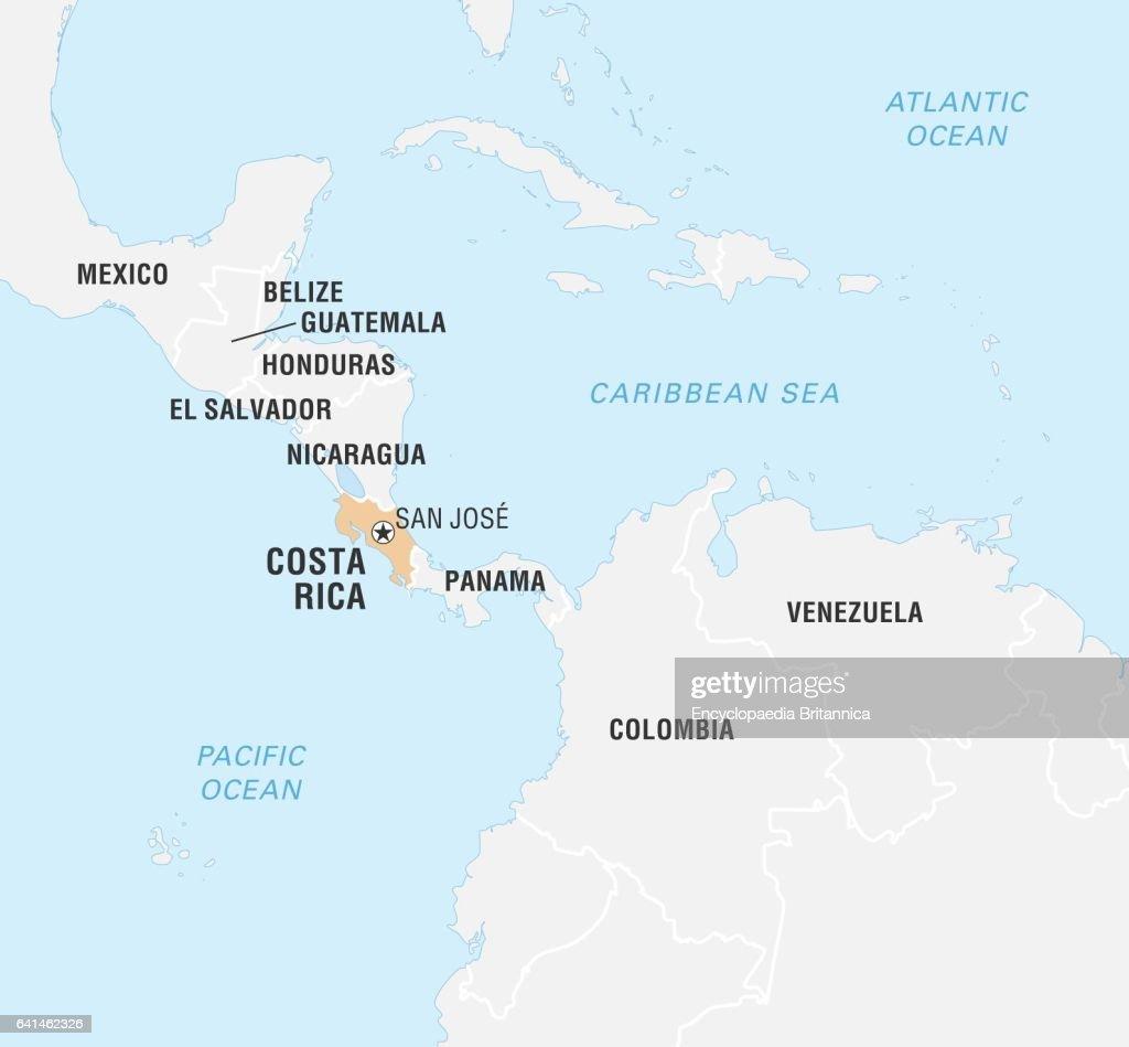 World Data Locator Map, Costa Rica. Nachrichtenfoto - Getty ...