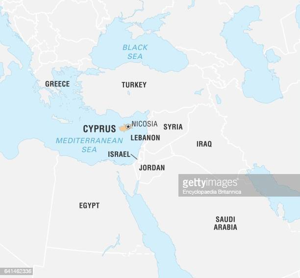 Cyprus on world map stock photos and pictures getty images world data locator map cyprus gumiabroncs Images