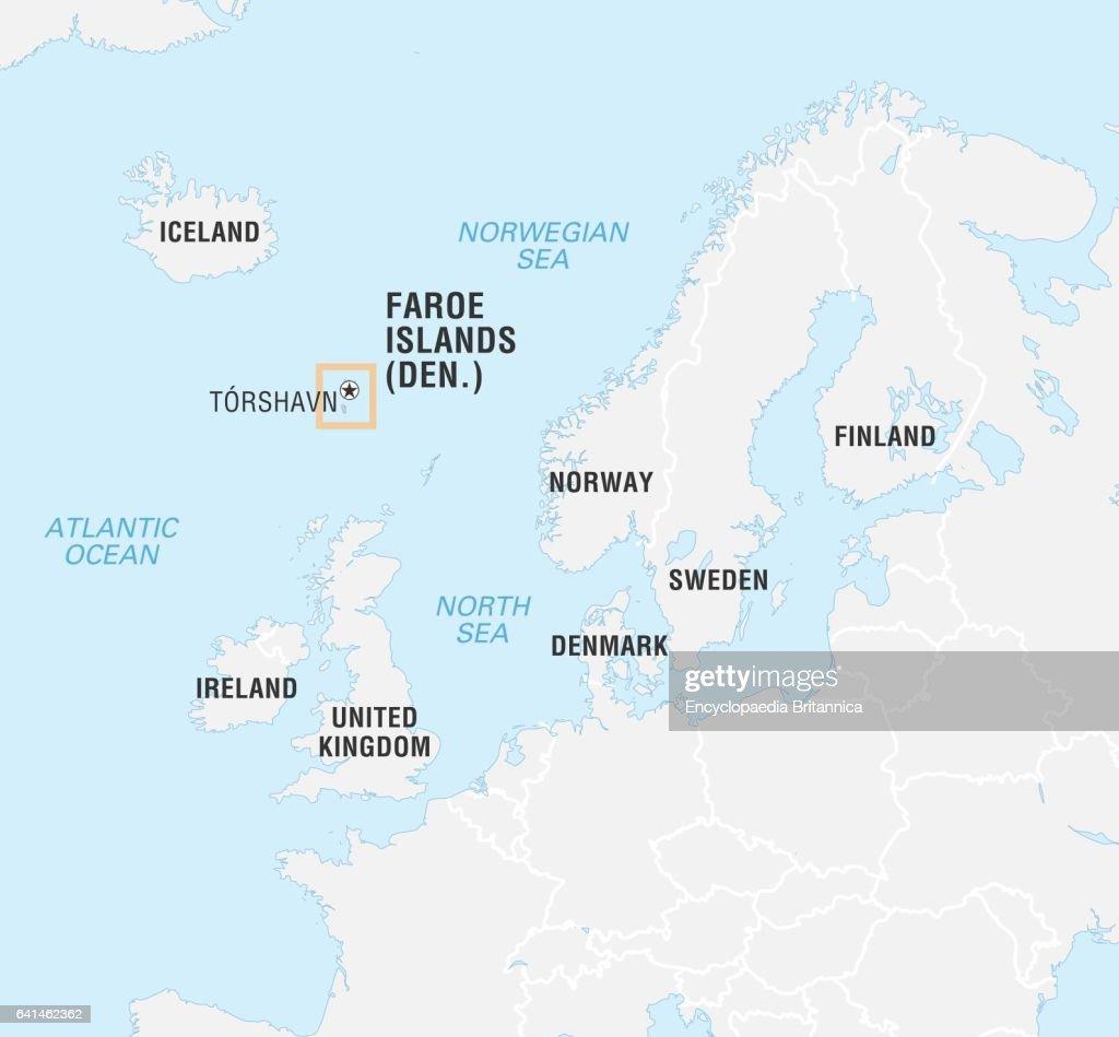 World Data Locator Map, Faroe Islands. News Photo | Getty Images