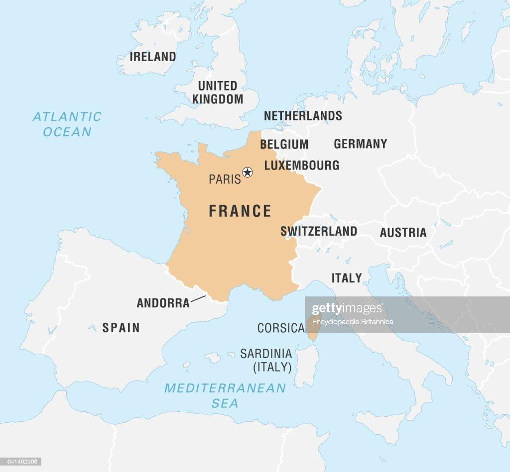 World Data Locator Map, France. Nachrichtenfoto - Getty Images