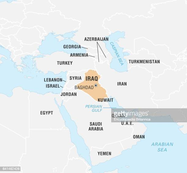 Iraq Map Stock Photos and Pictures |