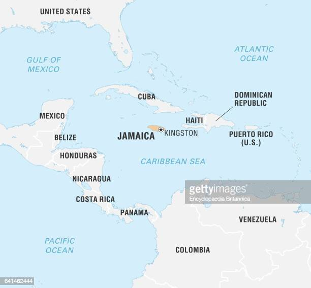 Jamaica World Map Stock Photos and Pictures |