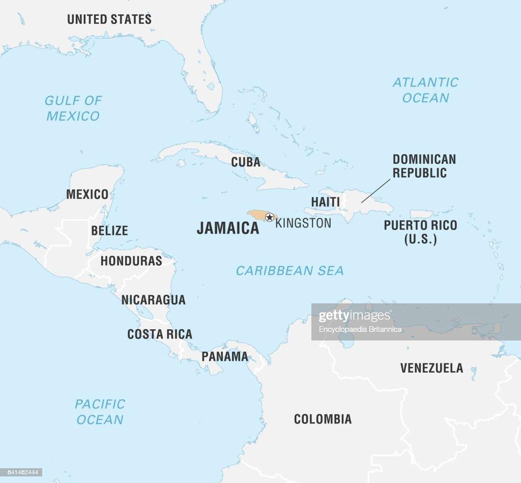 World Data Locator Map Jamaica