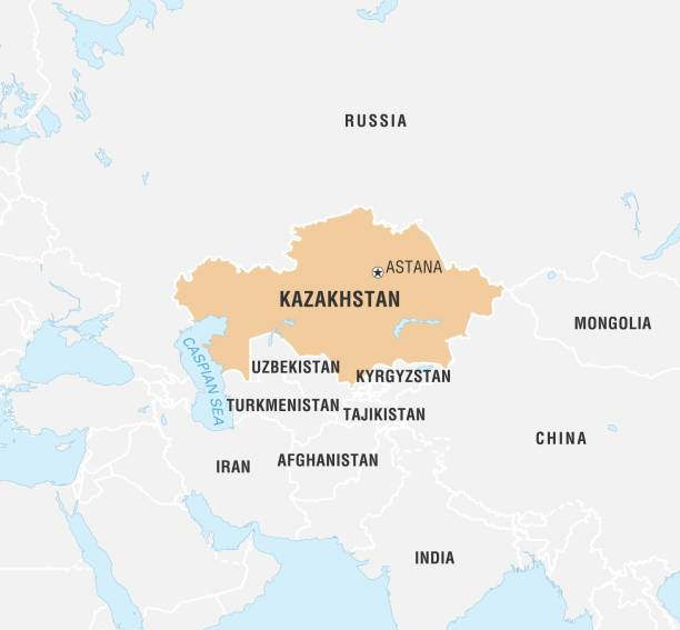 World Data Locator Map Kazakhstan Pictures Getty Images