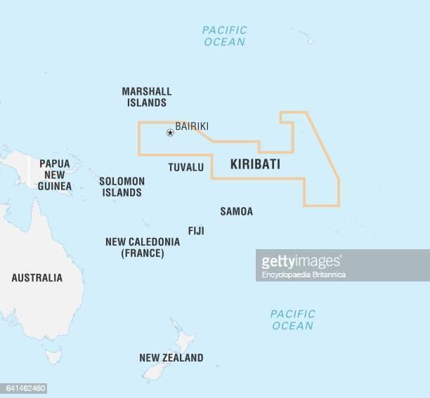 World Data Locator Map Kiribati