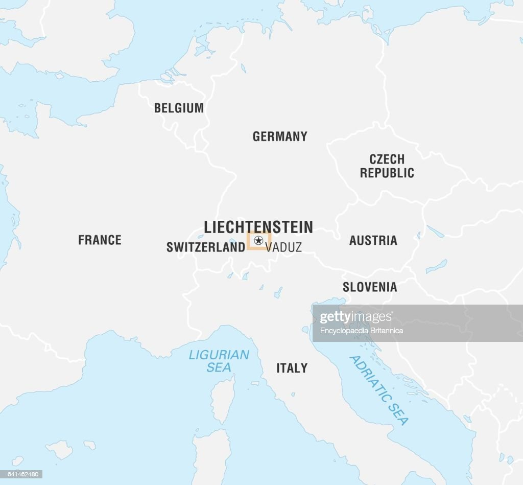 Map Of Liechtenstein Stock Photos and Pictures Getty Images