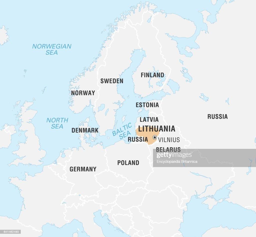 World Data Locator Map, Lithuania. Nachrichtenfoto - Getty ...