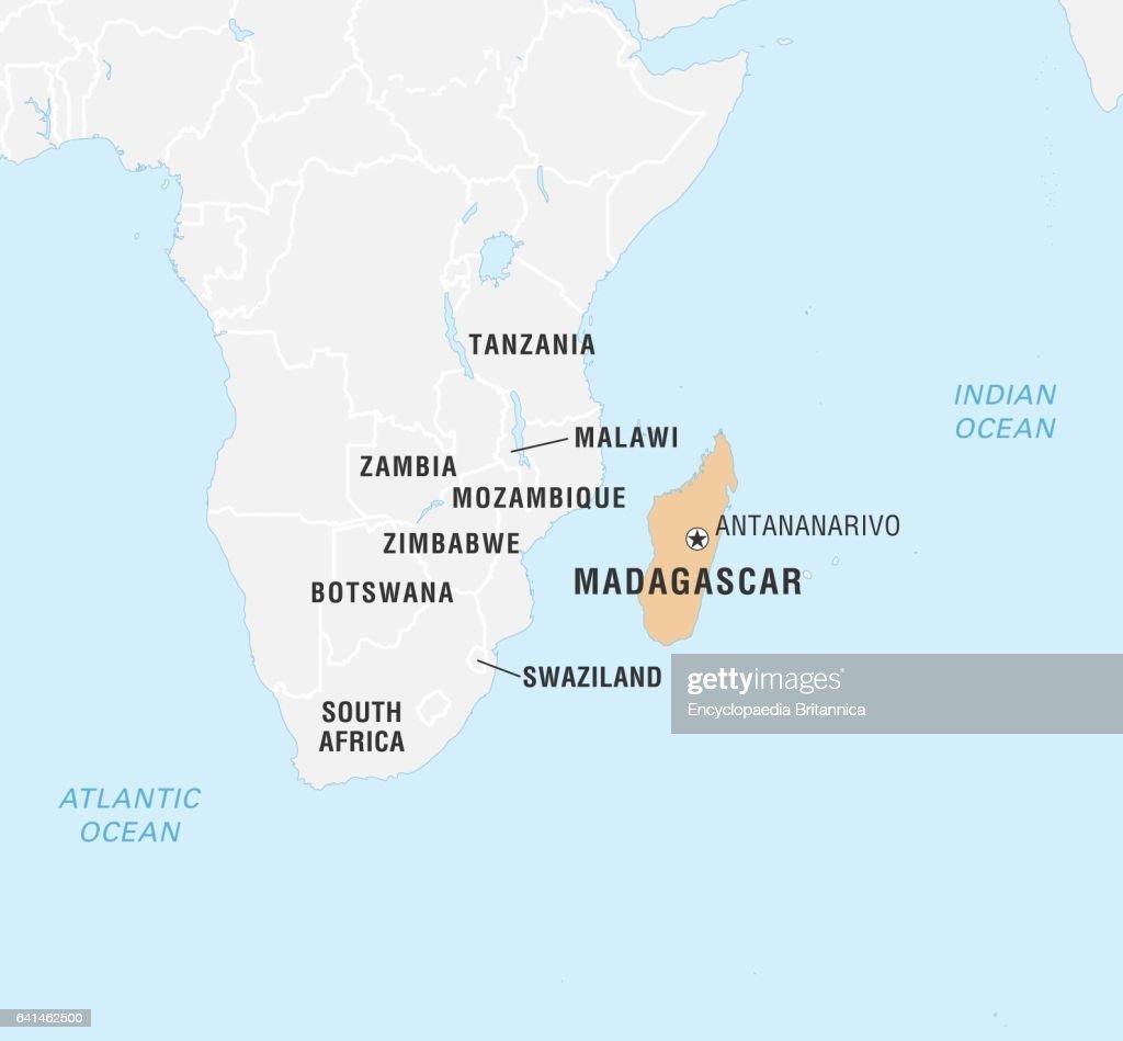 World Data Locator Map, Madagascar. News Photo   Getty Images