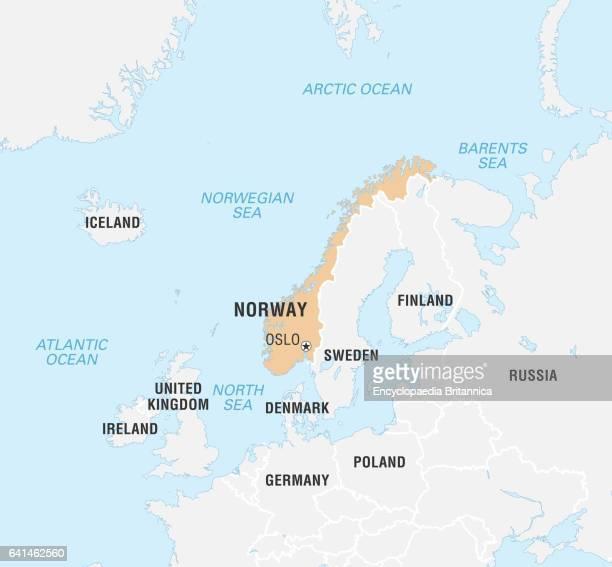 World Data Locator Map Norway