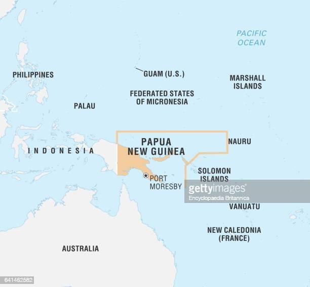 World Data Locator Map Papua New Guinea