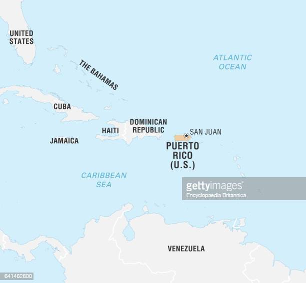 Puerto Rico Map Stock Photos And Pictures