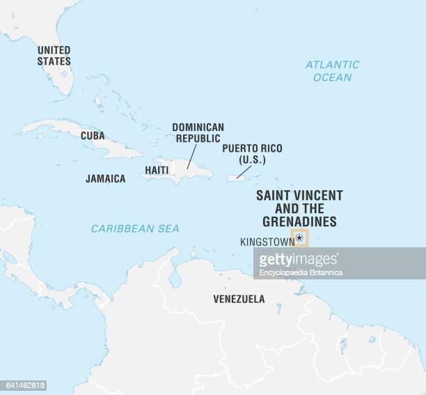 World Data Locator Map, Saint Vincent and the Grenadines.