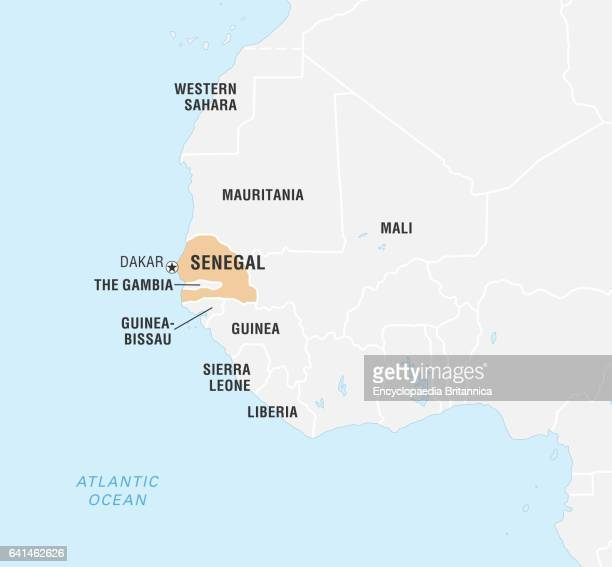 Senegal On Africa Map.Senegal Africa Map Stock Photos And Pictures