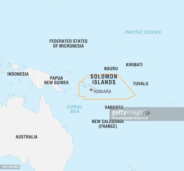 World Data Locator Map Solomon Islands