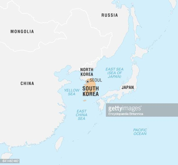 South Korea On World Map Stock Photos And Pictures Getty Images