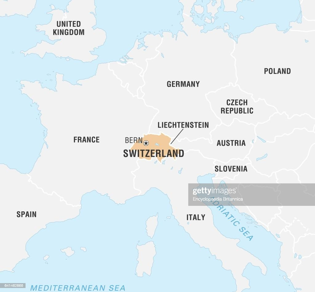 Switzerland World Map Stock Photos and Pictures Getty Images