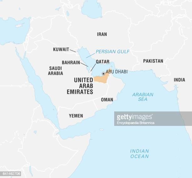 World Data Locator Map United Arab Emirates