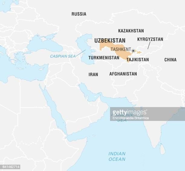 World Data Locator Map Uzbekistan