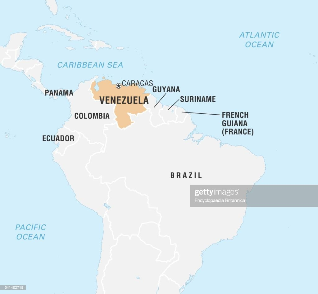 World Data Locator Map, Venezuela Pictures | Getty Images