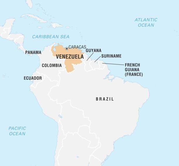 World Data Locator Map, Venezuela Pictures | Getty Images