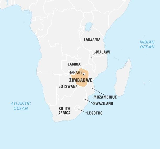 World Data Locator Map Zimbabwe Pictures Getty Images