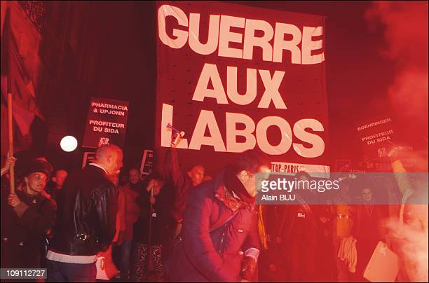 World Day Actup demonstration in Paris On December 1st 1999