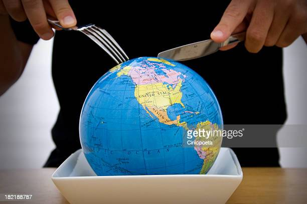 world eating - domination stock pictures, royalty-free photos & images