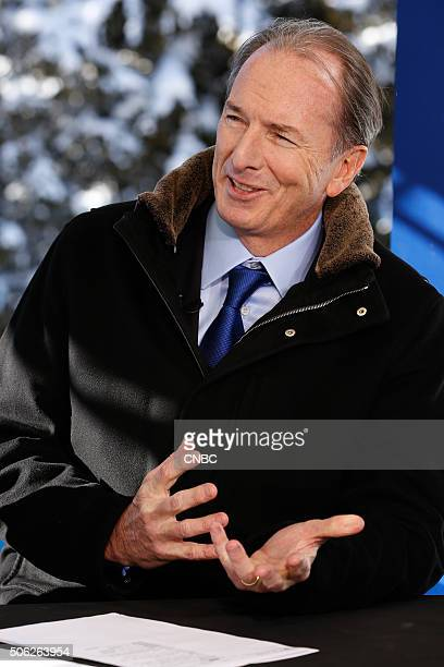 DAVOS 2016 World Economic Forum Pictured James Gorman CEO of Morgan Stanley in an interview at the annual World Economic Forum in Davos Switzerland...
