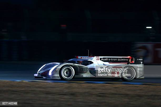 FIA World Endurance Championship 2013 The Audi R18 ETron Quattro driven by Andre Lotterer of Germany Marcel Fassler of Switzerland and Benoit...