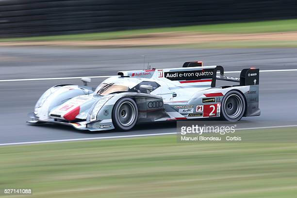 World Endurance Championship 2013 - The Audi R18 E-Tron Quattro driven by Tom Kristenssen of Denmark, Loic Duval of France and Allan McNish of...