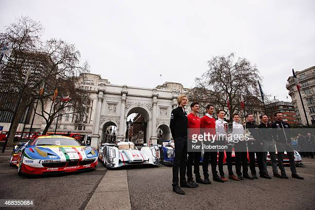 World Endurance Championship drivers Brendon Hartley James Calado Oliver Jarvis Mike Conway Anthony Davidson Danny Watts Jonny Kane and Darren Turner...