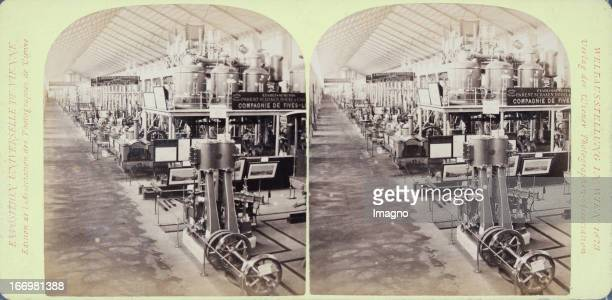 France machine hall Publisher of the Vienna Photographers Association Stereo photograph Weltausstellung Wien 1873 Maschinenhalle Frankreich Verlag...
