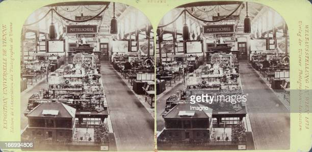Austrian Gallery education Publisher of the Vienna Photographers Association Stereo photograph Weltausstellung Wien 1873 Österreichische Galerie...