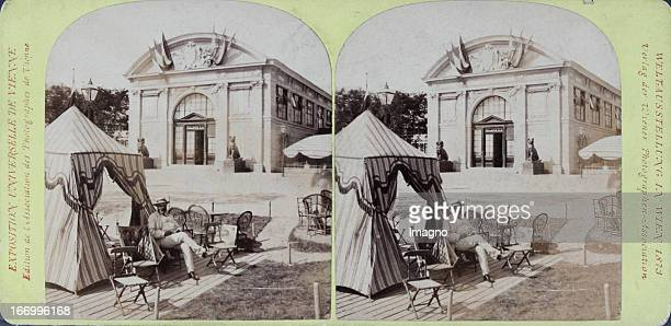 French section Portal Publisher of the Vienna Photographers Association Stereo photograph Weltausstellung Wien 1873 Französische Abteilung Portal...