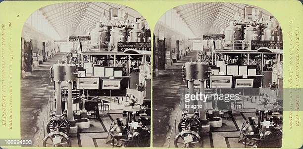 Machine hall France Publisher of the Vienna Photographers Association Stereo photograph Weltausstellung Wien 1873 Maschinenhalle Frankreich Verlag...