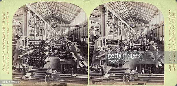 Machine hall Germany Publisher of the Vienna Photographers Association Stereo photograph Weltausstellung Wien 1873 Maschinenhalle Deutschland Verlag...